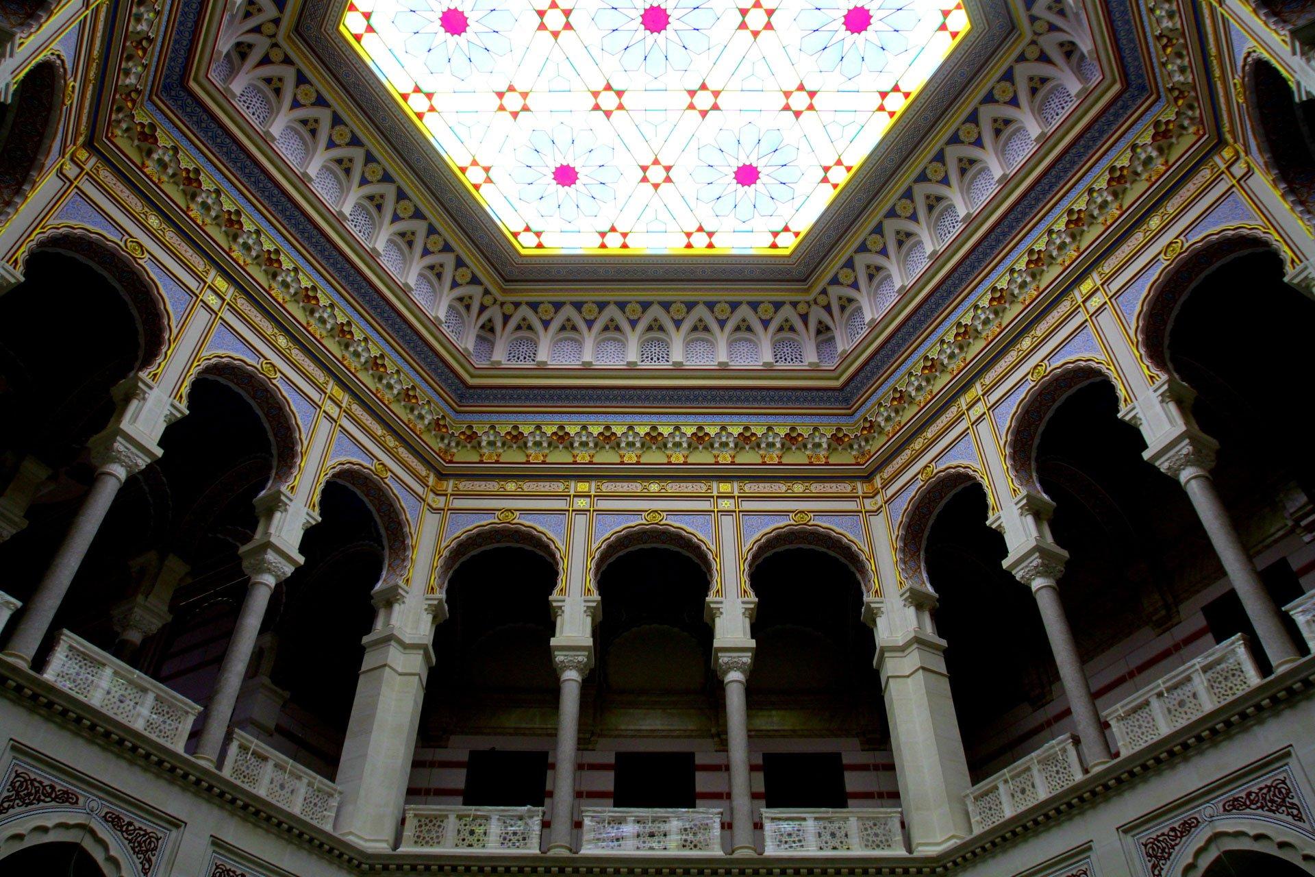 Gli interni restaurati della Vijećnica
