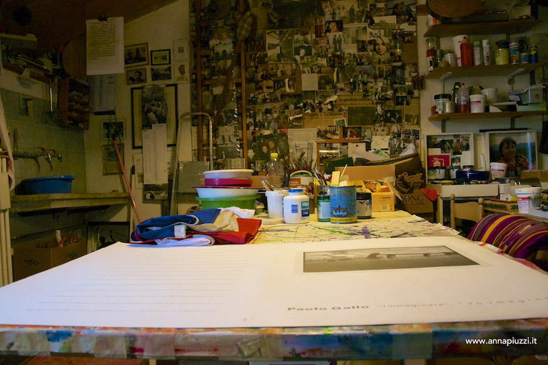 Lo studio di Toni Zanussi.