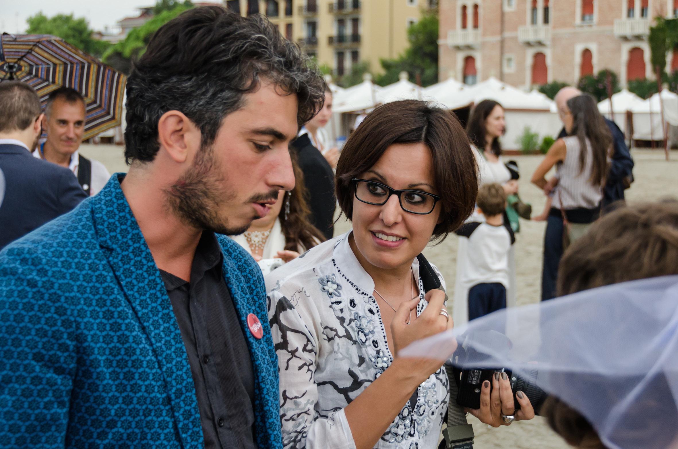 Con Gabriele Del Grande
